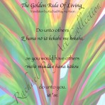Text Print: The Golden Rule Of Living